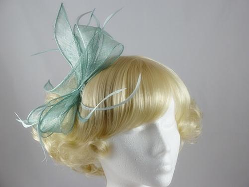 Wedding Hats 4U - Gayle Fascinator in Mint Green 4151f3e00be
