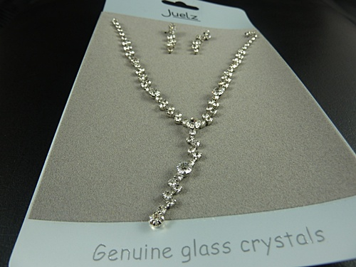 Glass Crystal Necklace & Earring Set
