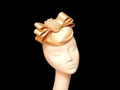 Ashleigh Myles Millinery Satin Three Layer Bow Headpiece