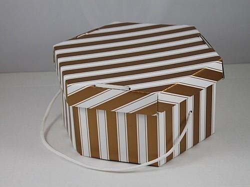 Gold and White Fascinator Box