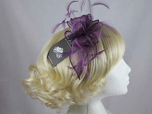 Wedding Hats 4U - Failsworth Millinery Fascinator in Grape - 6687 f5522bafb54