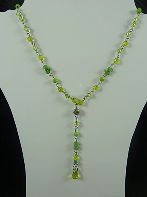 Bead and Chip Necklace