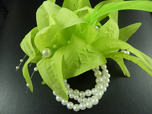 Flower and Pearl Bead Corsage