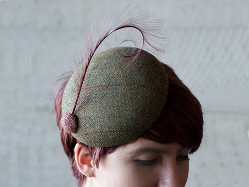 Fraser Annand Millinery Lulu Tweed Cocktail Hat
