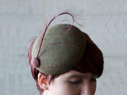 Fraser Annand Millinery Lulu Tweed Cocktail Hat