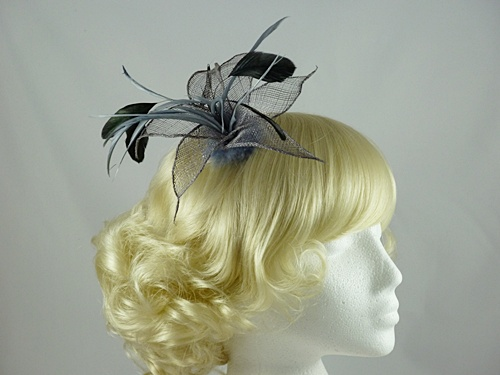 Sinamay Flower Fascinator on Clip
