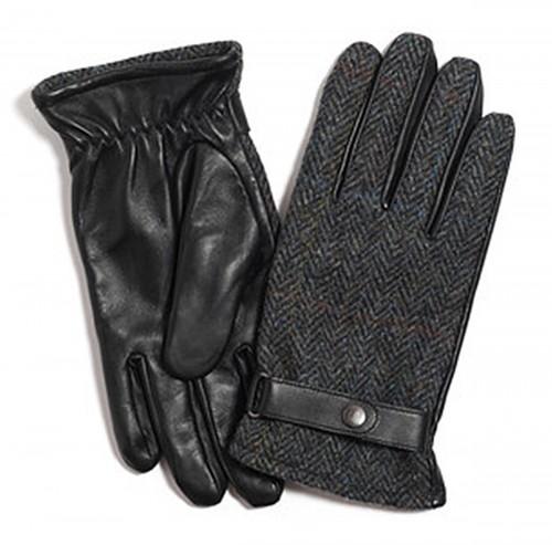 Failsworth Millinery Harris Tweed Gloves in Grey Blue