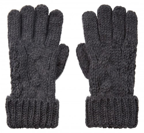 Boardman Cable Knit Gloves in Grey