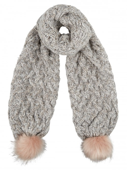 Boardman Sparkle Bobble Scarf in Grey