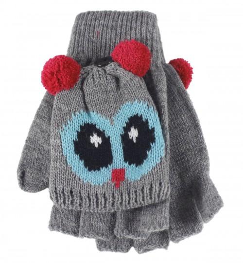 Jiglz Knitted Novelty Kids Ski Hat and Gloves eBay