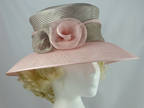 Wedding Hats 4U - Grey and Pink Occasion Hat 438356b94fe
