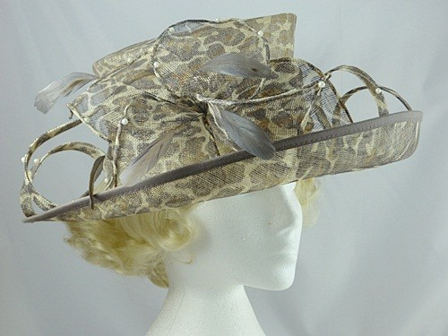 Gwyther Snoxells Animal Print Wedding / Events Hat