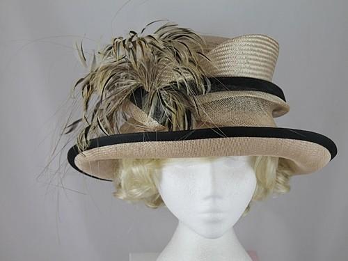 91041a77bbf Wedding Hats 4U - Gwyther Snoxells Beige Wedding Hat