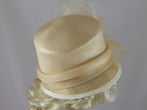 Gwyther Snoxells Cream Wedding Hat