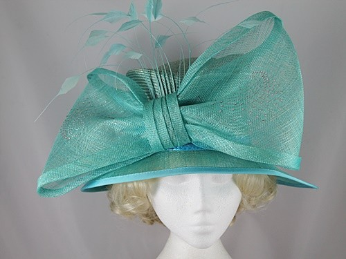 Gwyther Snoxells Electric Blue Wedding Hat