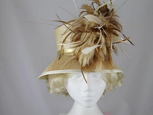 Gwyther Snoxells Gold Wedding Hat