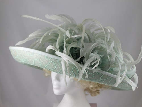Gwyther Snoxells Green Wide Brim Events Hat