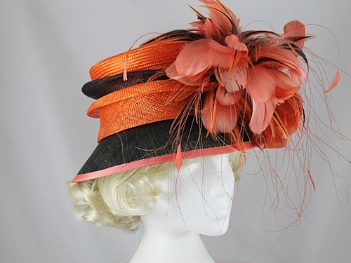 Gwyther Snoxells Orange and Black Events Hat