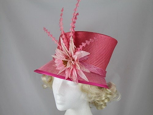 Gwyther Snoxells Pink Wedding Hat