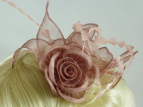 Wedding Hats 4U - Harriet Fascinator in Dusky Pink 6ba38537ce1