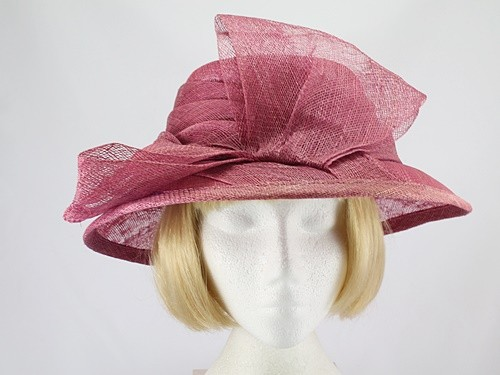 Hat Box Raspberry Formal Hat