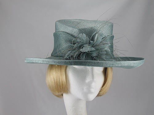 Hat Box Sea Green Wedding hat