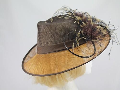 Hatrix Caramel and Brown Formal Hat