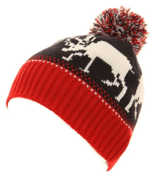 Hawkins Multi Coloured Reindeer Beanie Hat