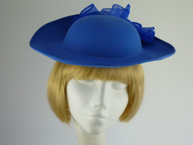 Kangol Wedding headpiece in Mid Blue