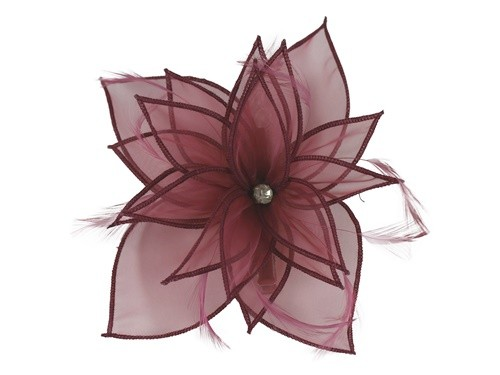 Failsworth Millinery Diamante Organza Fascinator in Iris