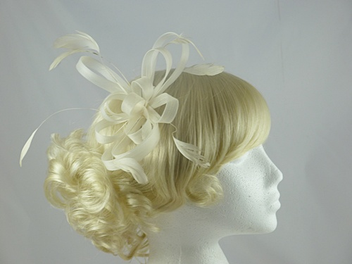 Aurora Collection Fascinator with Loops and Feathers