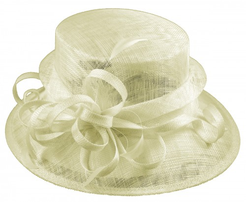 Elegance Collection Sinamay Loops Wedding Hat in Ivory