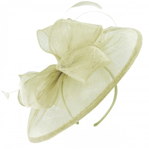 Failsworth Millinery Sinamay Disc Headpiece in Ivory