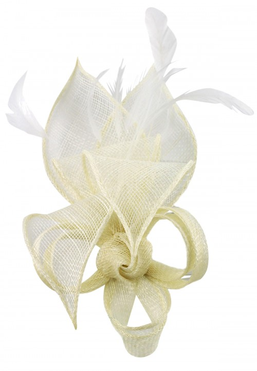Max and Ellie Lily Comb Fascinator in Ivory