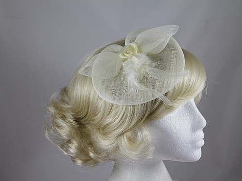 Net and Feathers Fascinator