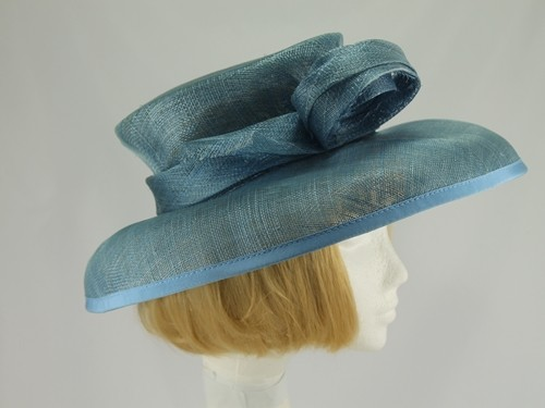 Jacques Vert Grey Blue Formal Hat
