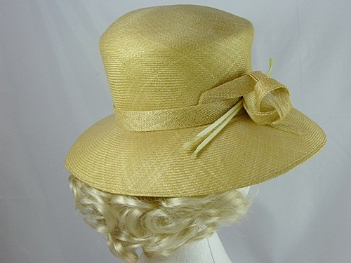 Jacques Vert Yellow Wedding Hat with Arrow Feathers