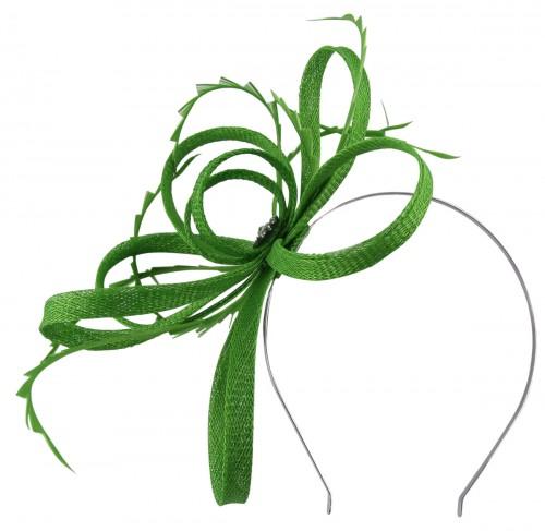 Failsworth Millinery Sinamay Loops Fascinator in Jade