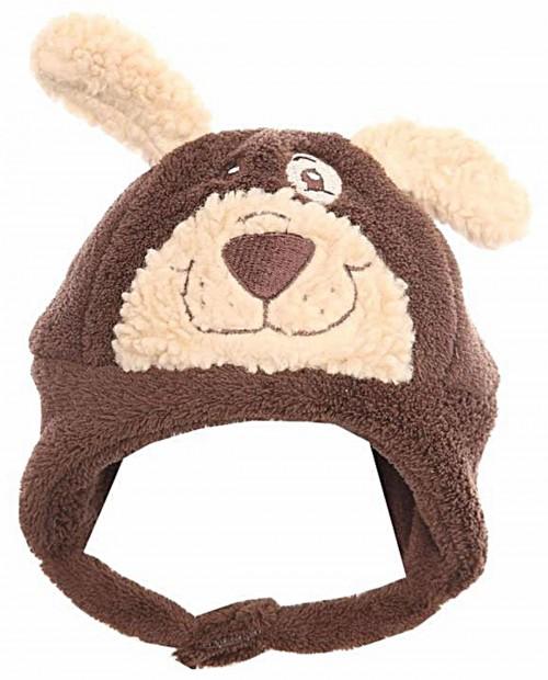 Jiglz Baby Toddler Brown Bear Soft Fleece Lined Hat