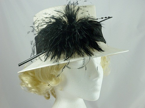 John Lewis Black and White Occasion Hat