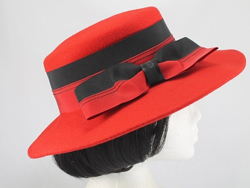 Kangol Black and Red Formal Hat