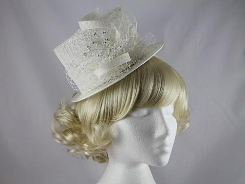 Kara Ivory Top Hat