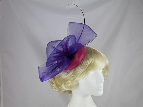 Kara Purple and Pink Crin Headpiece