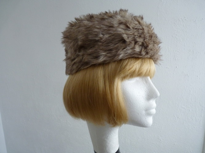 Ladies hat Pale Brown Fur