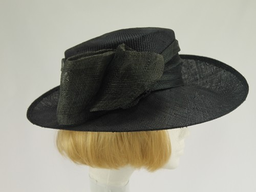 Laura Ashley Black and Grey Formal Hat