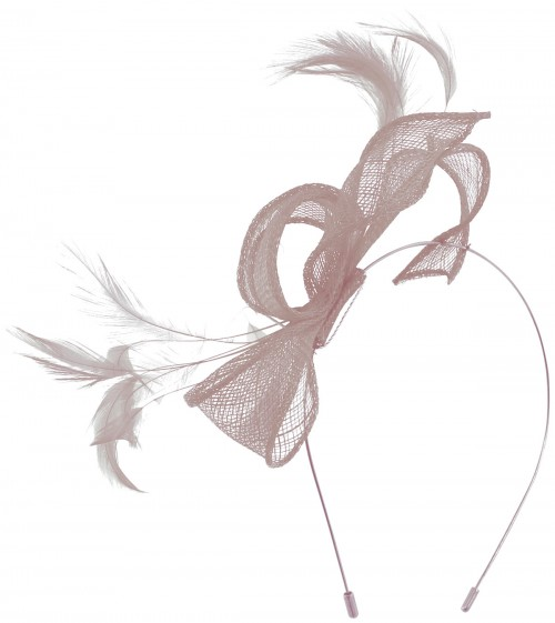 Max and Ellie Sinamay Fascinator in Lavender