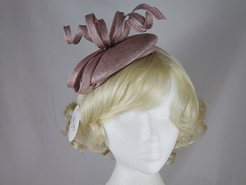 Hawkins Collection Button Headpiece with Curls