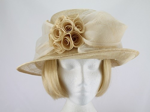 Light Corn and White Wedding Hat