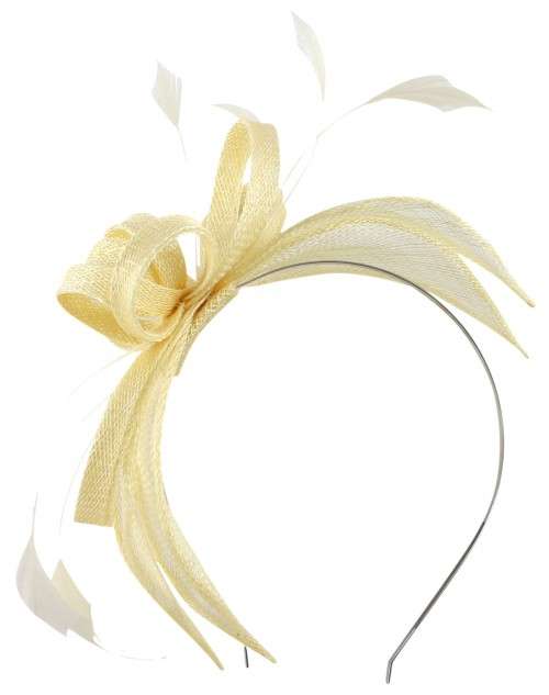 Failsworth Millinery Sinamay Fascinator in Linen