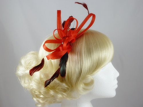 Fascinator with Loops and Gem